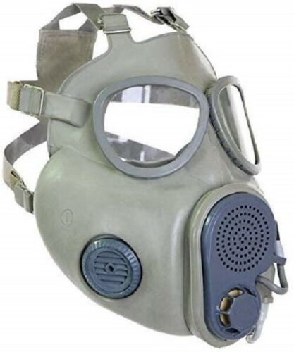 Czech Gas Mask M10M w/ Hydration Port and Straw w/ Filters & Bag