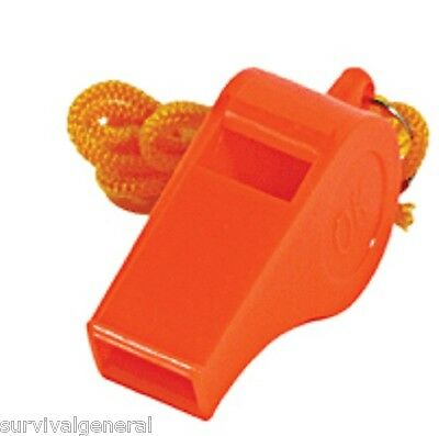 (100) Whistles Orange Emergency Loud Signal Distress Whistle Survival Plastic