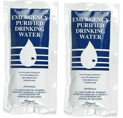2-Pack Water Packet Pouch Emergency Survival Drinking Rations USA
