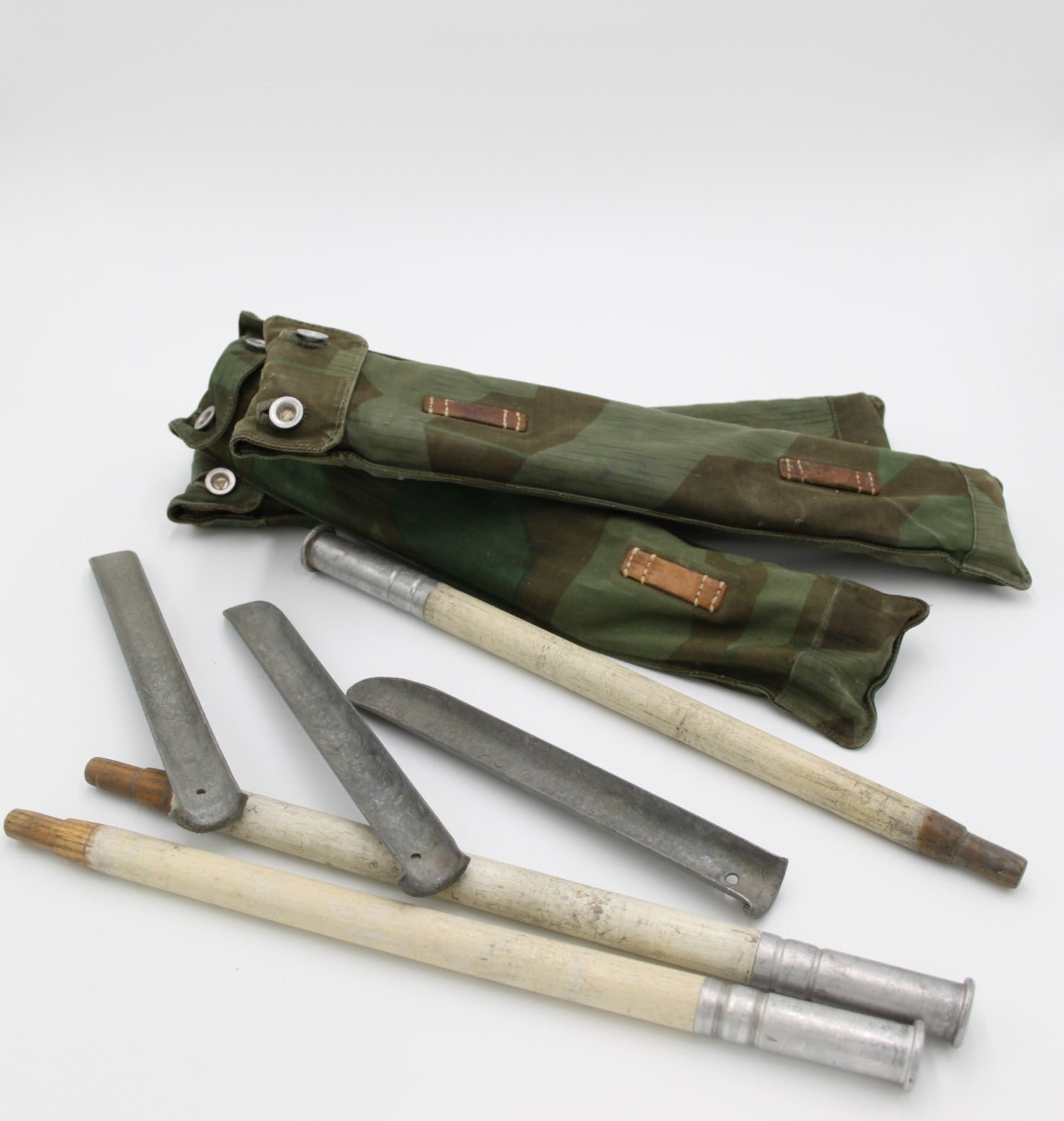 Swiss Tent Poles with Splinter Camo Pouch