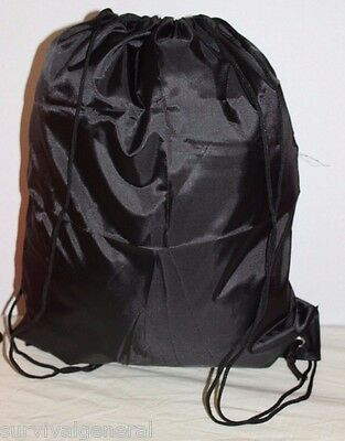 1) Drawstring Bag Black