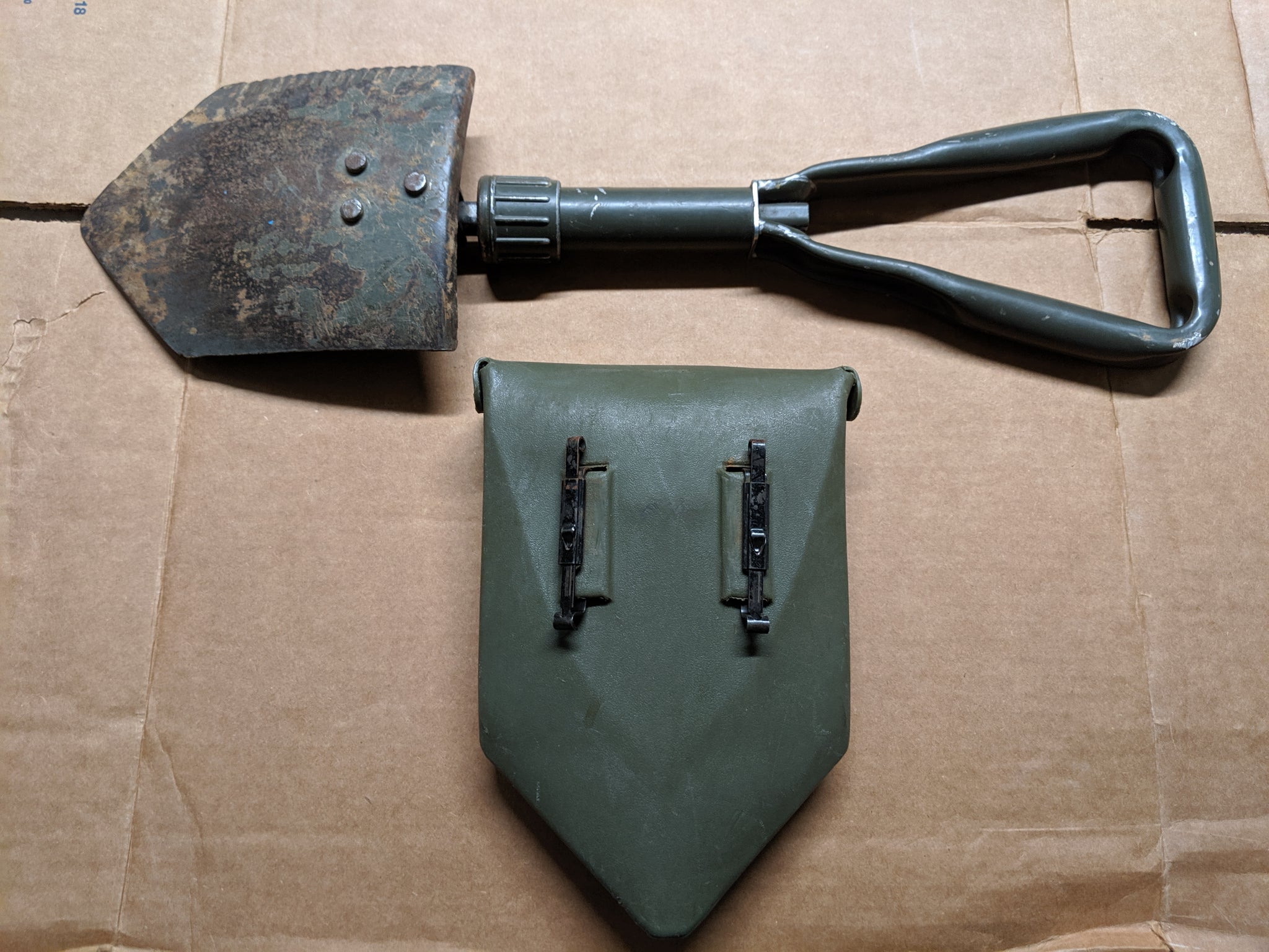 Used Genuine German BUND Military Issue Shovel