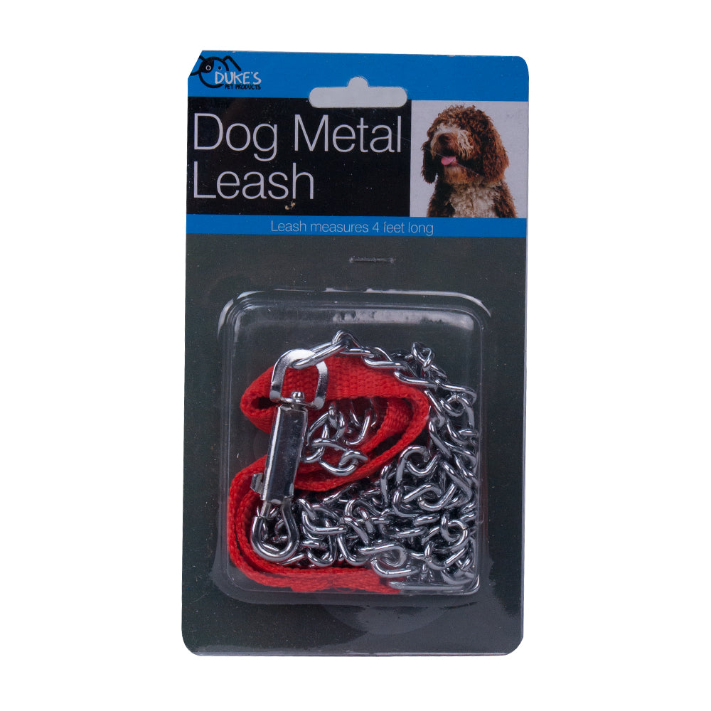 4' Metal Dog Leash