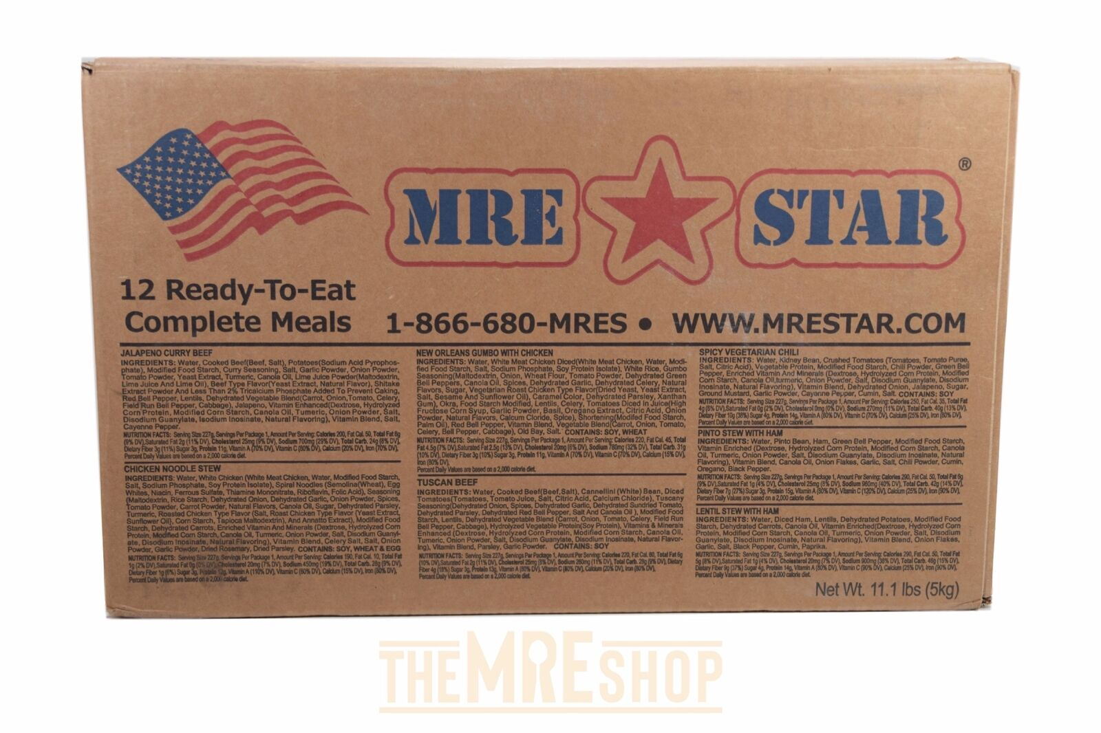 US Military MRE Meal Ready to Eat 12 Meals Fresh Dates Emergency Food Survival