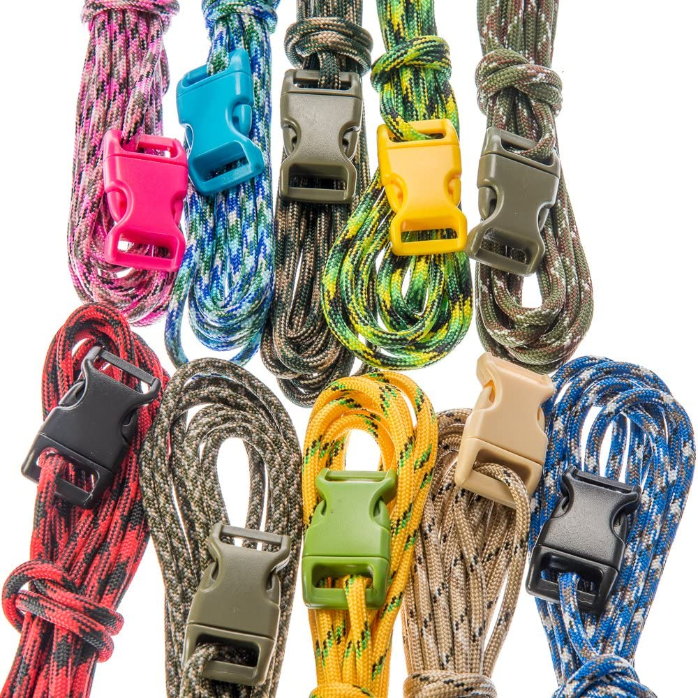 10pc Paracord Bracelet Kit (Assorted Camo Colors)
