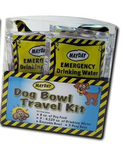 Survival General Dog Travel Bowl Emergency Kit Food and Water