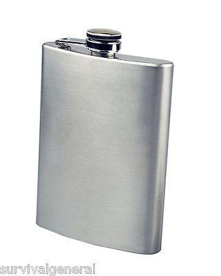 8oz Stainless Steel Hip Flask w/ Funnel