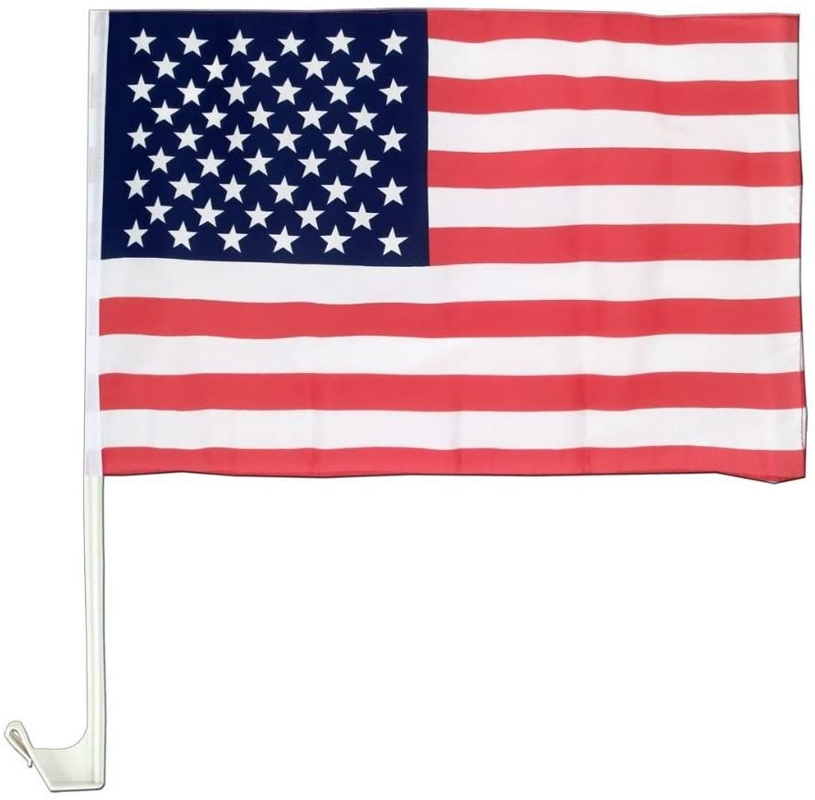 "United States of America American Patriotic Car Window Clip USA Flag 18"" x 12"""