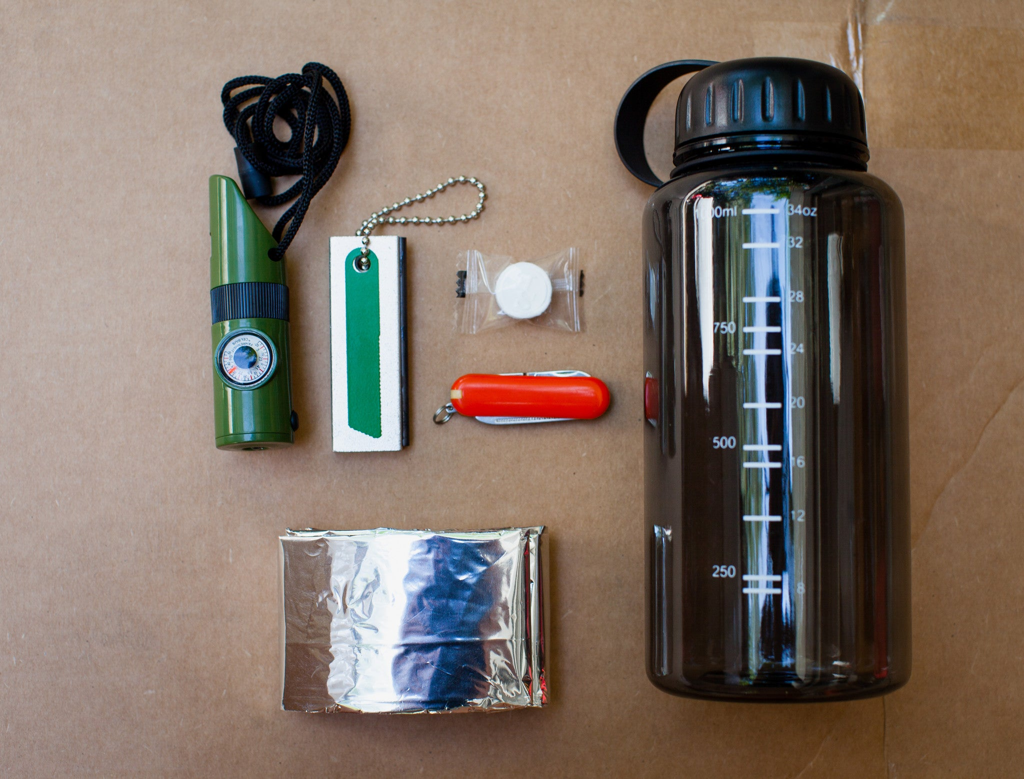 16-IN-1 Water Bottle Kit - Survival General