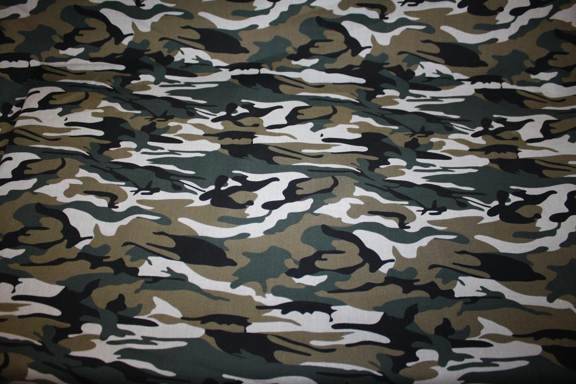Forest Jungle Camouflage 100% Cotton Material