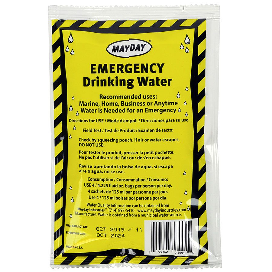 Emergency Water Mayday Brand
