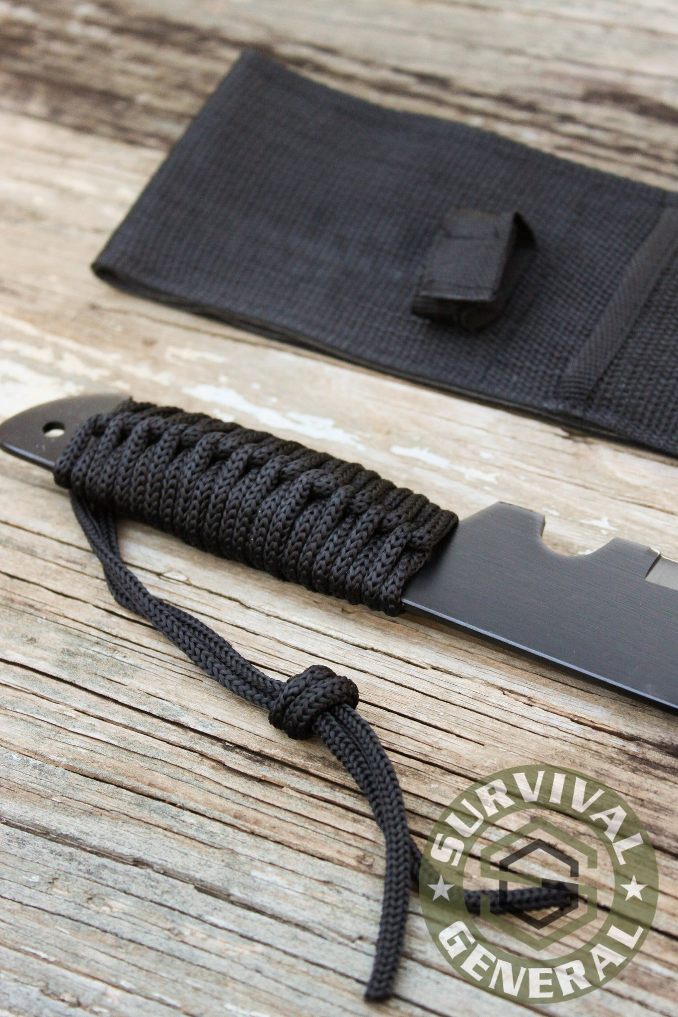 "20"" Black Zombie Machete Knife with Sheath"