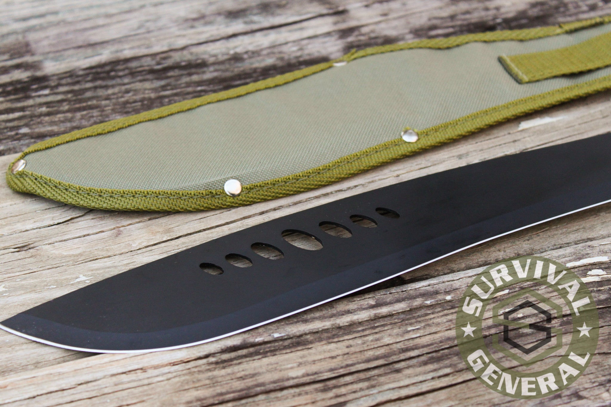 "20"" Zombie Machete Knife Blade with OD Green Sheath"