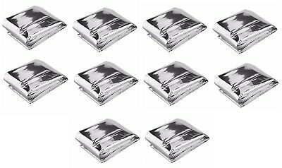 (10) Emergency Blanket Space Thermal Thermal Heat Survival  84 x 52 Blankets Kit