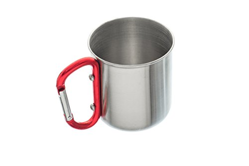 10oz Carabiner Travel Mug Stainless Steel
