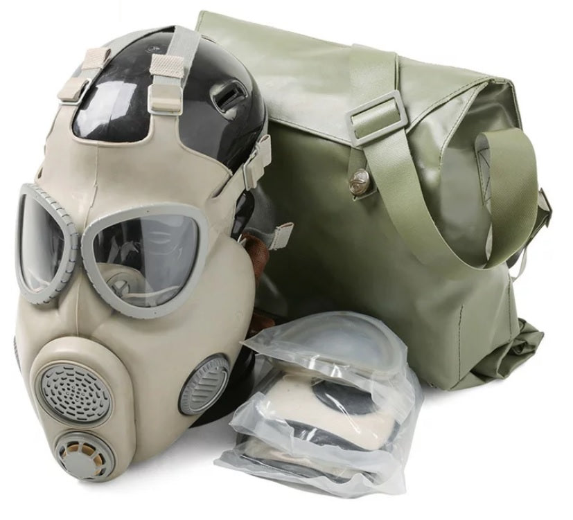 Military Czech Gas Mask M10 w/ Filter and Bag