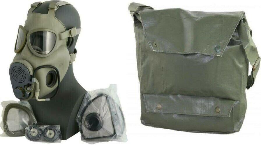 Czech Gas Mask M10M w/ Hydration Port and Straw w/ Bag and Filters