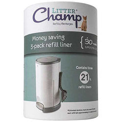 Refill Liners for Litter Champ, 3-Pack (30-Week Supply) - Doolittle's Pet Products