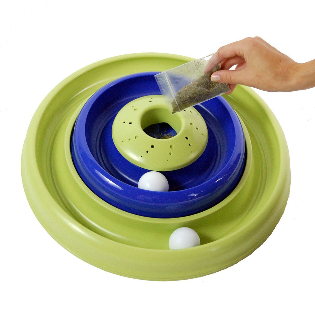 Bergan Turbo Catnip Hurrican Cat Toy Blue / Green 16