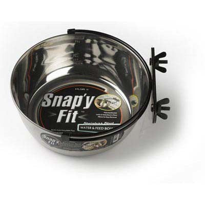 Midwest Stainless Steel Snapy Fit Water and Feed Bowl