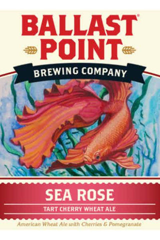 Ballast Point Sea Rose Tart Cherry  Wheat Ale