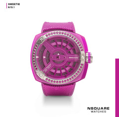 NSQUARE Sweetie Quartz Watch -51mm  N19.1 Sharp Pink|NSQUARE 甜美系列 石英錶-51毫米  N19.1 耀眼粉紅色