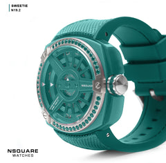 NSQUARE Sweetie Quarts Watch -51mm N19.2 Clear Jade|NSQUARE 甜美系列 石英錶-51毫米 N19.2 翡翠綠色