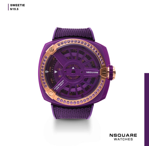 NSQUARE Sweetie Quartz Watch -51mm N19.5 Hyper Violet|NSQUARE 甜美系列 石英錶-51毫米 N19.5 超豔紫羅蘭