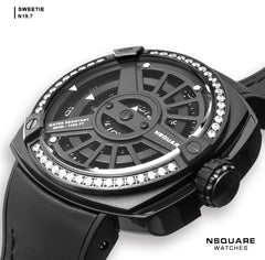NSQUARE Sweetie Quartz Watch -51mm N19.7 Black|NSQUARE 甜美系列 石英錶-51毫米 N19.7 黑色