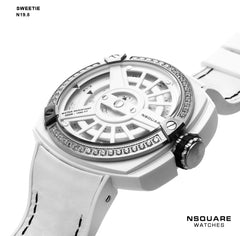 NSQUARE Sweetie Quartz Watch -51mm N19.8 White|NSQUARE 甜美系列 石英錶-51毫米 N19.8 白色