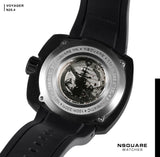 NSQUARE VOYAGER Automatic Watch -51mm  N25.4 Black/RG|NSQUARE 旅遊者 自動錶-51毫米  N25.4黑色/玫瑰金色