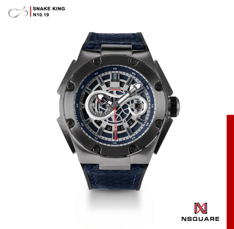 NSQUARE SnakeKing Automatic Watch-46mm N10.19 Gun Metal Blue|NSQUARE 蛇皇系列 自動錶-46毫米  N10.19 槍藍色
