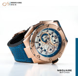 NSQUARE SnakeKing Automatic Watch-46mm N10.10 Magic Blue|NSQUARE 蛇皇系列 自動錶-46毫米  N10.10魔幻藍
