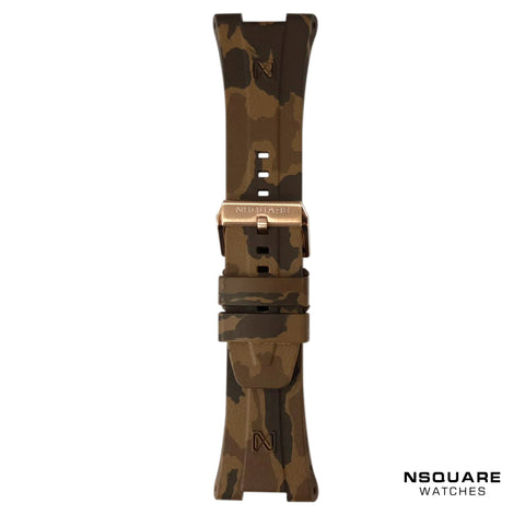 N 10-BROWN CAMOUFLAGE RUBBER STRAP | N 10-啡色橡膠迷彩帶