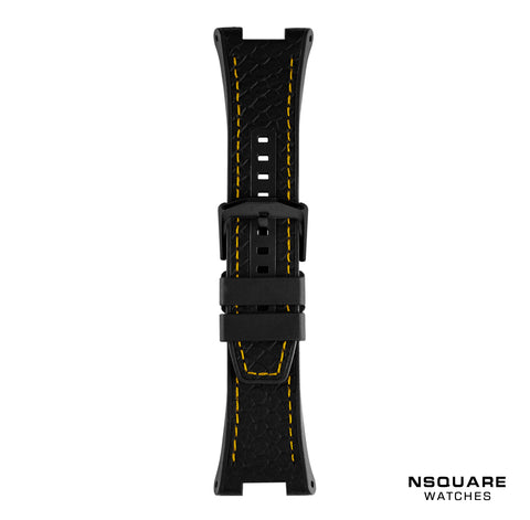 N 10-BLACK STRAP YELLOW STITCH | N 10-黒錶帶黃線