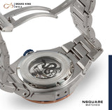 NSQUARE SnakeKing Automatic Watch-46mm N10.4 RG/Steel/SS Bracelet|蛇皇系列 自動錶-46毫米  N10.4 海岸藍色/不銹鋼錶鏈帶
