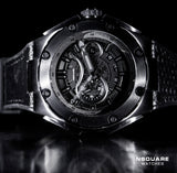 NSQUARE SnakeKing Automatic Watch-46mm N10.5 Gray Metal/Black|NSQUARE 蛇皇系列 自動錶-46毫米  N10.5 灰色/黒