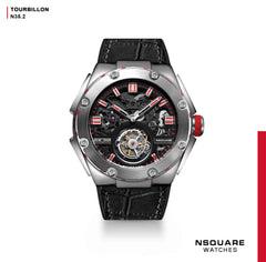 NSQUARE NM01-TOURBILLON Watch - 46mm  N35.2 SS/Black|NM01-陀飛輪 46毫米  N35.2不銹鋼/黑色