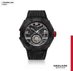 NSQUARE NM01-TOURBILLON Watch - 46mm  N35.3 All Black|NM01-陀飛輪 46毫米  N35.3 全黑色