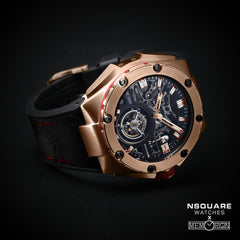 NSQUARE NM01-TOURBILLON Watch - 46mm  N35.4Rose Gold/Black|NM01-陀飛輪 46毫米  N35.4 玫瑰金/黑