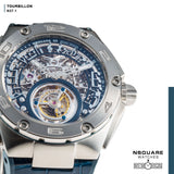 NSQUARE N37.1 Ronald Series-TOURBILLON Watch - 46mm  SS/Blue|N37.1 鄭中基系列-陀飛輪46毫米  鋼藍色