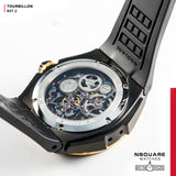 NSQUARE N37.2 Ronald Series-TOURBILLON Watch - 46mm  Gold/Black|N37.2 鄭中基系列-陀飛輪46毫米  金/黑
