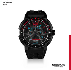 NSQUARE Propeller Automatic Watch - 48mm N26.2 Black|NSQUARE 螺旋槳 自動錶-48毫米 N26.2 黑色