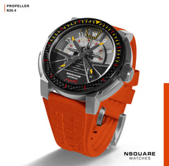 NSQUARE Propeller Automatic Watch - 48mm N26.4 Orange|NSQUARE 螺旋槳 自動錶-48毫米 N26.4 橙色