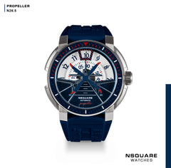 NSQUARE Propeller Automatic Watch - 48mm N26.5 SS/Blue|NSQUARE 螺旋槳 自動錶-48毫米 N26.5鋼/藍色