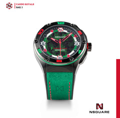 NSQUARE Casino Royale Automatic N40.1 GREEN/BLACK LIMITED EDITION|NSQUARE皇家賭場系列 自動錶N40.1 綠色/黑色限量版