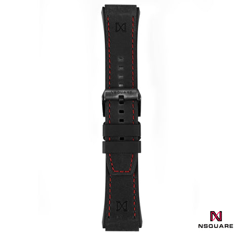 N 40-BLACK STRAP RED STITCH|N 40-黑色錶帶紅線