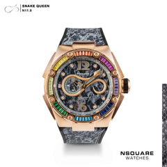 NSQUARE SnakeQueen -46mm  N11.8 RG Rainbow LIMITED EDITION 88PCS|NSQUARE 蛇后系列-46毫米  N11.8玫瑰金彩虹 限量版88隻