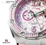 NSQUARE SnakeQueen Automatic Watch-46mm  N11.12 Sakura Pink|NSQUARE 蛇后系列 自動錶-46毫米. N11.12 櫻花粉