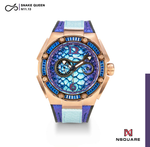 NSQUARE SnakeQueen Automatic Watch-46mm  N11.13 Hyper Violet|NSQUARE 蛇后系列 自動錶-46毫米. N11.13 超豔紫羅蘭